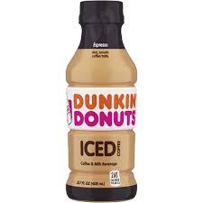 Dunkin Donuts Espresso Iced Coffee Bottle 137 Fl Oz