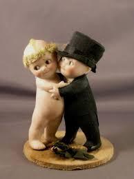 Wedding Cake Toppers On Ebay Gallery Antique German Bisque Huggers Kewpie Couple Bride Groom 373 X