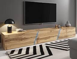 tv lowboard board eiche wotan hängend stehend space tv tisch 240 cm mit led rgb