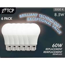 60w equivalent daylight 5000k a19 non dimmable led light bulb 6