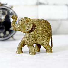 6 Inches Brass Elephant Statue Table Decor Antikcart