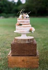 Naked Cake Gold Love Topper Pink Flowers Heidi Vail