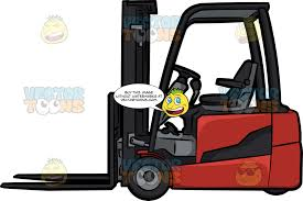 100 Powered Industrial Truck A Counterbalance Forklift Clipart Cartoons By VectorToons