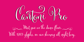 Andaz Press Wedding Signs In Cantoni Font