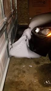 Garage Door Bottom Seal For Uneven Floor by Snow Got Blown In From The Gap Under Our Garage Door