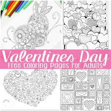 Free Valentines Day Coloring Pages For Adults