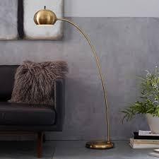 West Elm Mid Century Overarching Floor Lamp by Petite Arc Metal Floor Lamp Floor Lamp Petite And Metals