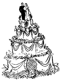 Drawn wedding cake clipart 1