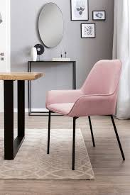 esszimmerstuhl 2er set rosa material polyester metall salesfever