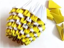 Simple 3D Origami Vase