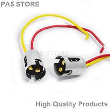 2x ba15d 1157 light bulb socket holder metal led for cars