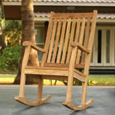 Tortuga Outdoor Jakarta Teak Wood Patio Rocking Chair