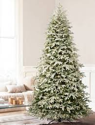 Fraser Christmas Tree Care by Frosted Fraser Fir Narrow Artificial Christmas Tree Balsam Hill