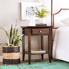 morgan brown modern nightstand free shipping today overstock