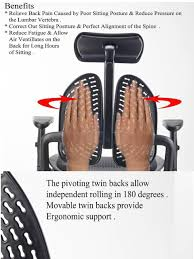 The Healing Chair - Ortho Back Folding Chair Ergonomic Chair Office Chair  (Free 1 Year Warranty)
