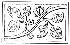 clipart wood carving leaves
