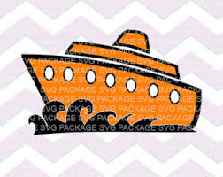 SVG Cutting File Cruise Ship Boat Clipart Boat SVG vacation Big