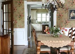 Dining Room Wallpaper Ideas Country Decorating