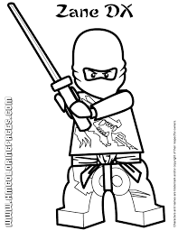 Lego Ninjago Zane DX Coloring Page