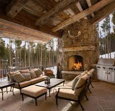 100 Rustic Ceiling Beams Denver Outdoor Corner Fireplace Patio Rustic With Timber