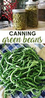 Canning Green Beans Is An Easy Summer Activity That Allows You To Enjoy Them All Year