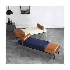 polsterbank schlafzimmer pu leder truhenbank schlafzimmer mit armlehnen bettbank schlafzimmer stabil nordeuropa einfachheit bett hocker