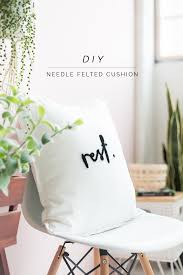DIY Needle Felted Word Cushion | Fall For DIY How To Recover A Glider Rocking Chair Photo Tutorial Cushions Comfort Protection Cushion Covers Fit Diy Butterfly Chair Cover Archives Shelterness Removable Ikea Poang Keep Clean Fniture Dazzling Design Of Sets For Home Diy 4pc Waterproof Stretch Wedding Kitchen Craigslist Deals For Your Babys Room Needle Felted Word Fall To Recover Ding Hgtv 41 Patio Ideas 10 Best Baby Rockers Reviews Of 2019 Net Parents