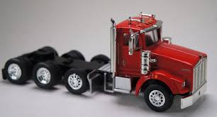 100 Toy Kenworth Trucks HO 187 Promotex 6575 T800 4Axle Tractor Tandem Wtag Axle Red