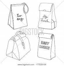 Lunch Bag Collection Vector Photo Free Trial