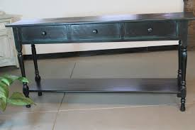Narrow Sofa Table With Drawers by Black Console Table In Reclaimed Wood Lake And Mountain Home