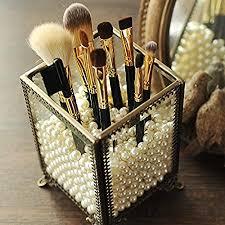 yunnasi make up pinselhalter aus glas kosmetik organizer mit