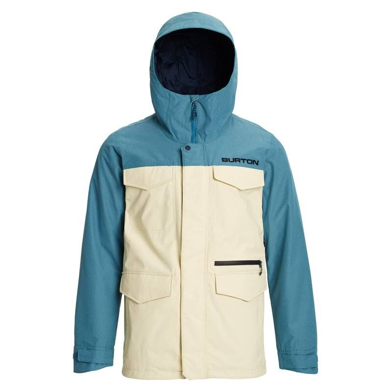 Burton Men's Covert Jacket, Almond Milk / Storm Blue Ripstop, M
