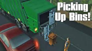 100 Garbage Truck Video Youtube Simulator Game Episode 2 Picking Up Trash Bins