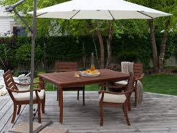 Sears Outdoor Umbrella Stands by Patio 56 Large Cantilever Patio Umbrella With Wooden Deck