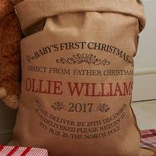 Harrow Christmas Tree Collection by Personalised Baby U0027s First Christmas Sack By Harrow U0026 Green
