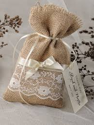 Drawable Jute Hessian Burlap Candy Bags Vintage Chic Wedding Pouch Rustic Decor Party Favors
