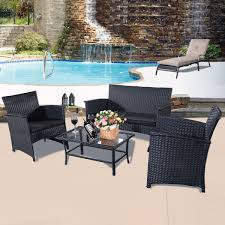 4PC Rattan Outdoor Garden Furniture Patio Sofa Set Conservatory ... Shop Aleko Wicker Patio Rattan Outdoor Garden Fniture Set Of 3 Pcs 4pc Sofa Conservatory Sunnydaze Tramore 4piece Gray Best Rattan Garden Fniture And Where To Buy It The Telegraph Akando Outdoor Table Chair Hog Giantex Chat Seat Loveseat Table Chairs Costway 4 Pc Lawn Weston Modern Beige Upholstered Grey Lounge Chair Riverdale 2 Bistro With High Webetop Setoutdoor Milano 4pc Setting Coffee