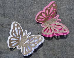 3d Butterflies 12 Pcs Glitter Butterfly Paper Party