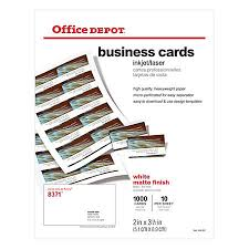 fice Depot Brand Matte Business Cards 2 x 3 12 White Pack
