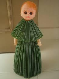 Straw Dress For My Doll