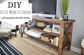 DIY TV Console With Regard To Rustic Tv Consoles Designs 10