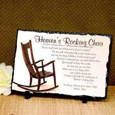 Heaven's Rocking Chair Memorial Plaque