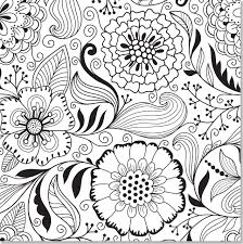 Butterfly And Flower Coloring Pages For Adults Free Printable New Floral Pattern