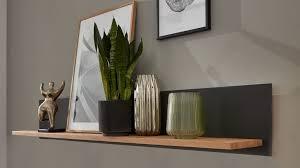 interliving wohnzimmer serie 2005 wandregal asteiche anthrazitfarbenes glas länge ca 122 cm