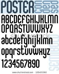 Poster Classic Style Font With Rounded Corners Black Condensed Letters Alphabet Standard For