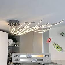 beleuchtung led decken le eckig chrom design esszimmer