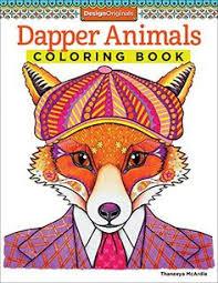 Dapper Animals Coloring Book Design Originals By Thaneeya McArdle