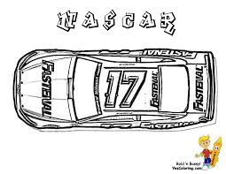 Coloring For Kids NASCAR Impala At YesColoring