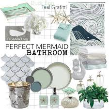 Little Mermaid Bath Decor by Glamorous Accessories Of Little Mermaid Bathroom Decor At Home