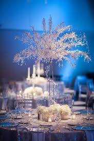 White Silver Blue Winter Wonderland Wedding At A La Carte Pavilion